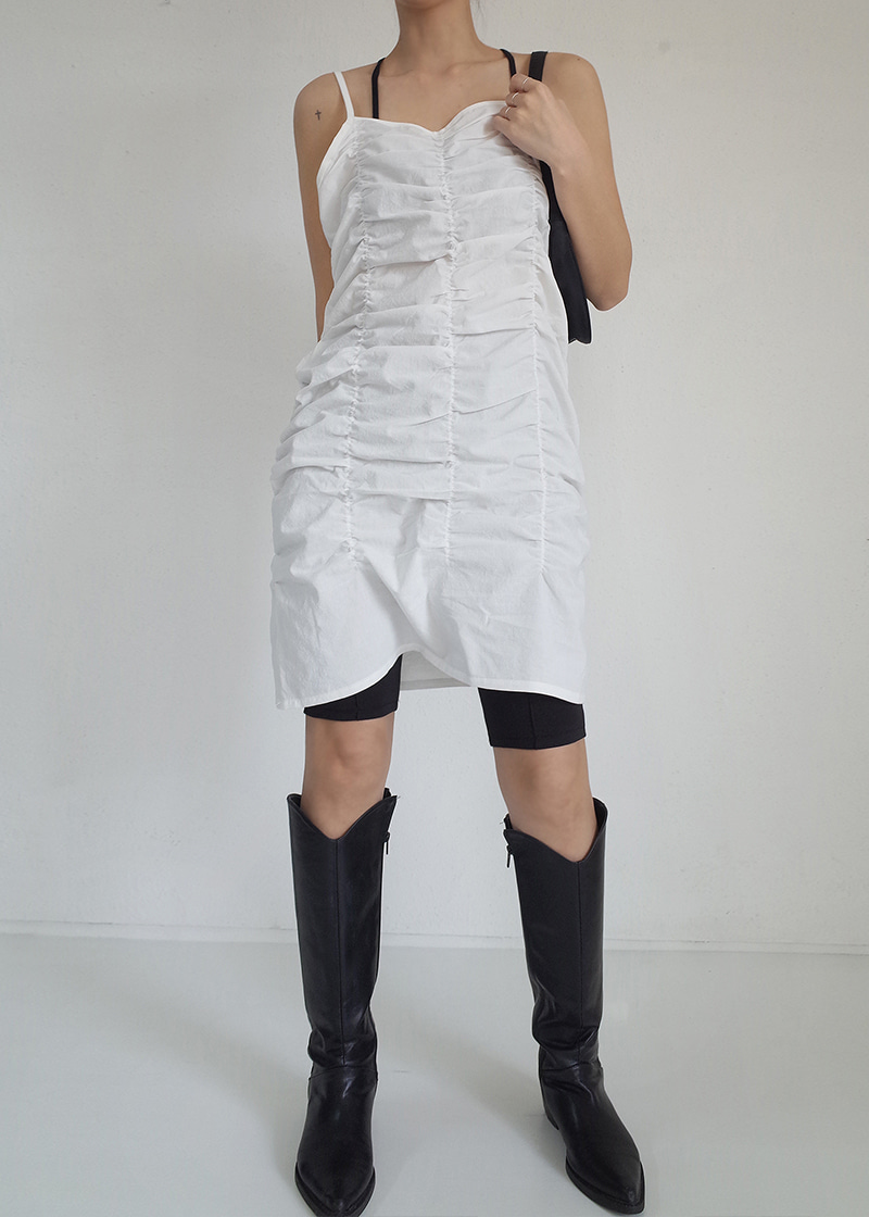 sleeveless shirring ops (2c)