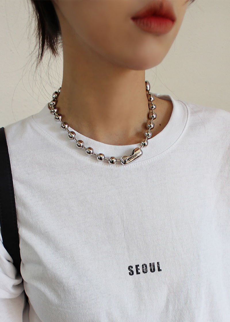 big ball chain necklace (2c)