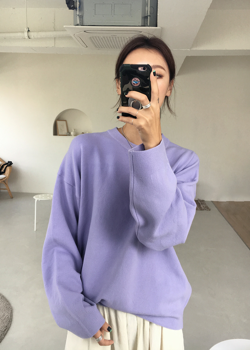 [sale] span over knit (lavender)