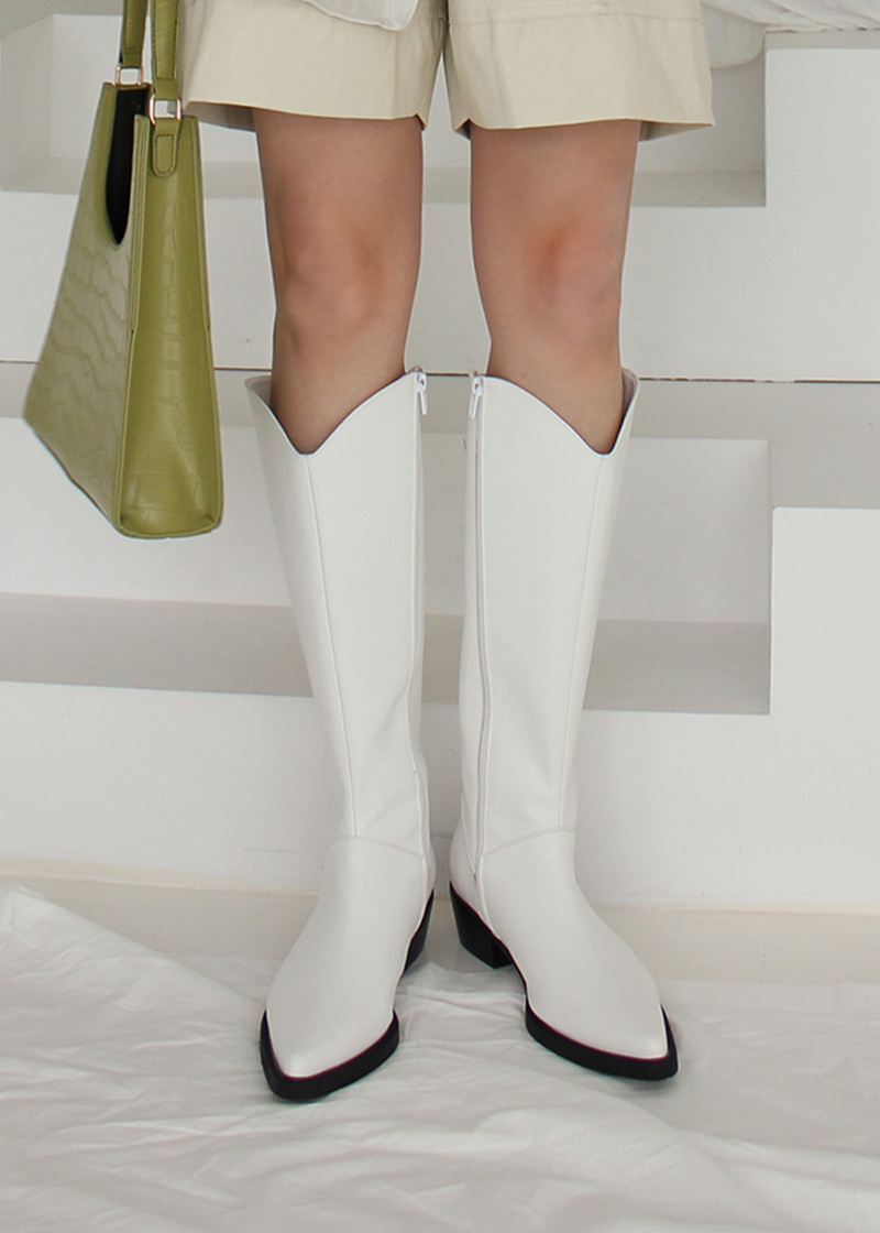 western knee-high boots (2c)