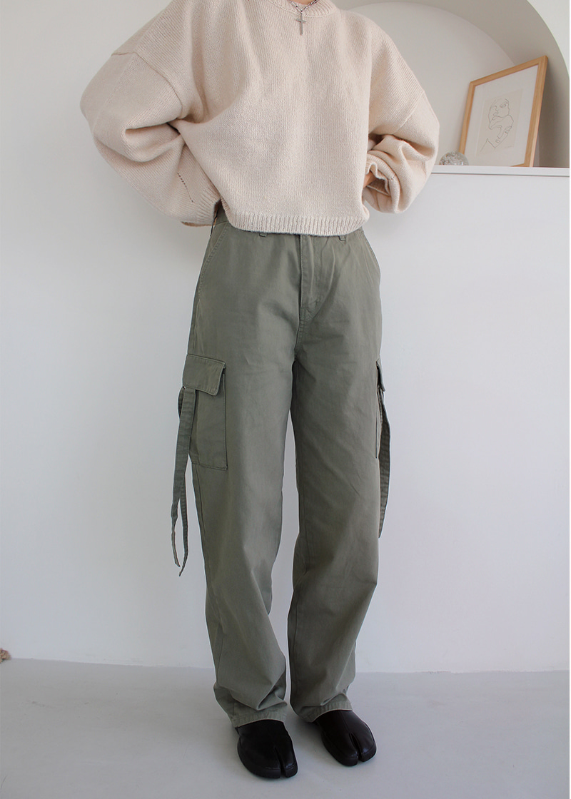 [sale] cargo ribbon pants (2c)