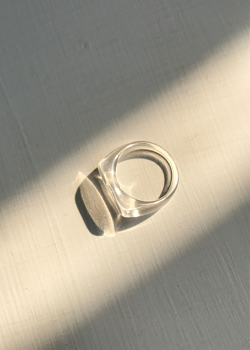 clear bold ring